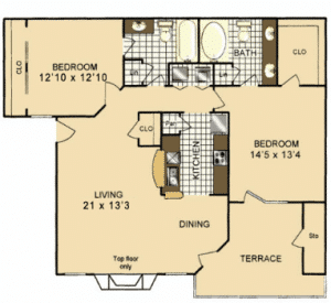 Two bedroom apartments for rent in San Antonio