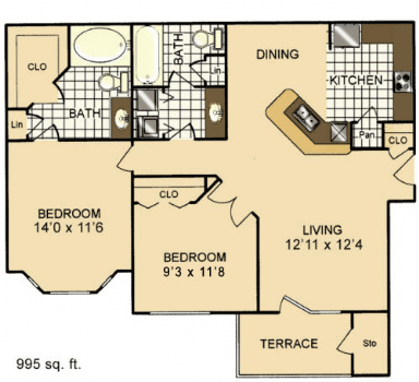 Two Bedroom Apartment Rental in San Antonio, TX