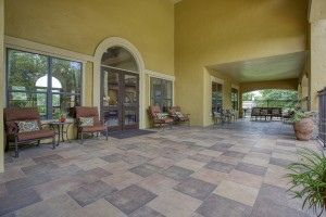 Three Bedroom Apartments in San Antonio, TX - Clubhouse Entrance Patio