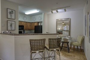 1 Bedroom Apartments in San Antonio, TX - Model Dining Room & Kitchen