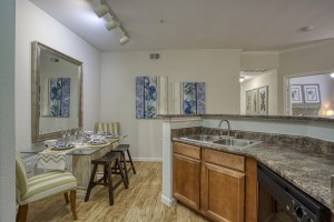 1 Bedroom Apartments in San Antonio, TX - Model Kitchen & Dining Room