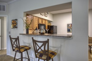 Three Bedroom Apartments in San Antonio, TX - Model Kitchen Pass Through Bar