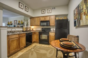Three Bedroom Apartments in San Antonio, TX - Model Kitchen with Eating Area