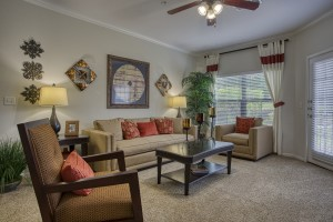 Three Bedroom Apartments in San Antonio, TX - Model Living Room